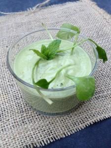 Postelein avocado shake