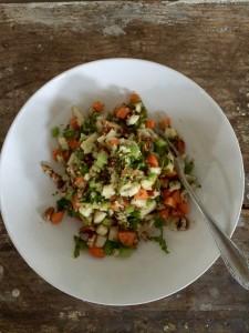 peer pecan salade