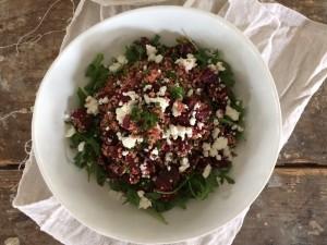quinoa met rode biet