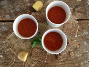 Tomaten linzen soep